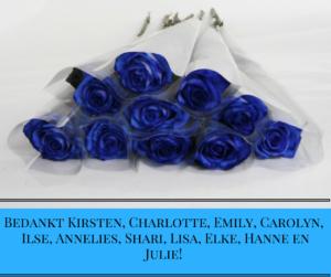 Bedankt Kirsten, Charlotte, Carolyn, Ilse, Annelies, Shari, Lisa, Elke, Hanne en Julie! (1)